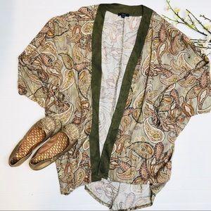 Very J Paisley Open Front Kimono